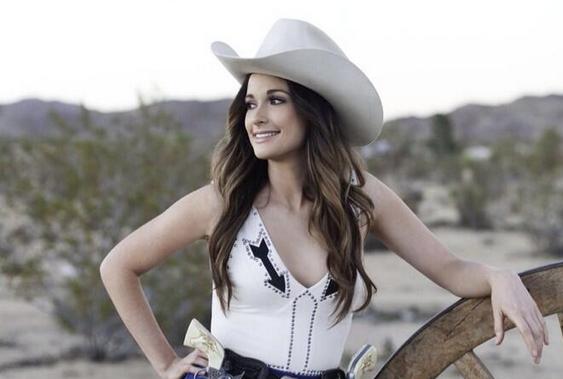 Kacey Musgraves at the CMC Rocks QLD Festival, Australia - The Shotgun Seat 10 Gallon Cowboy Hat Front