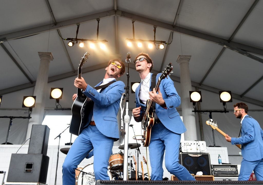 FRANKLIN, TN - SEPTEMBER 27:  Jacob Bryant and John Davidson of John & Jacob perform onstage during Pilgrimage Music & Cultural Festival on September 27, 2015 in Franklin, Tennessee.  (Photo by Erika Goldring/Getty Images for Pilgrimage Music & Cultural Festival)