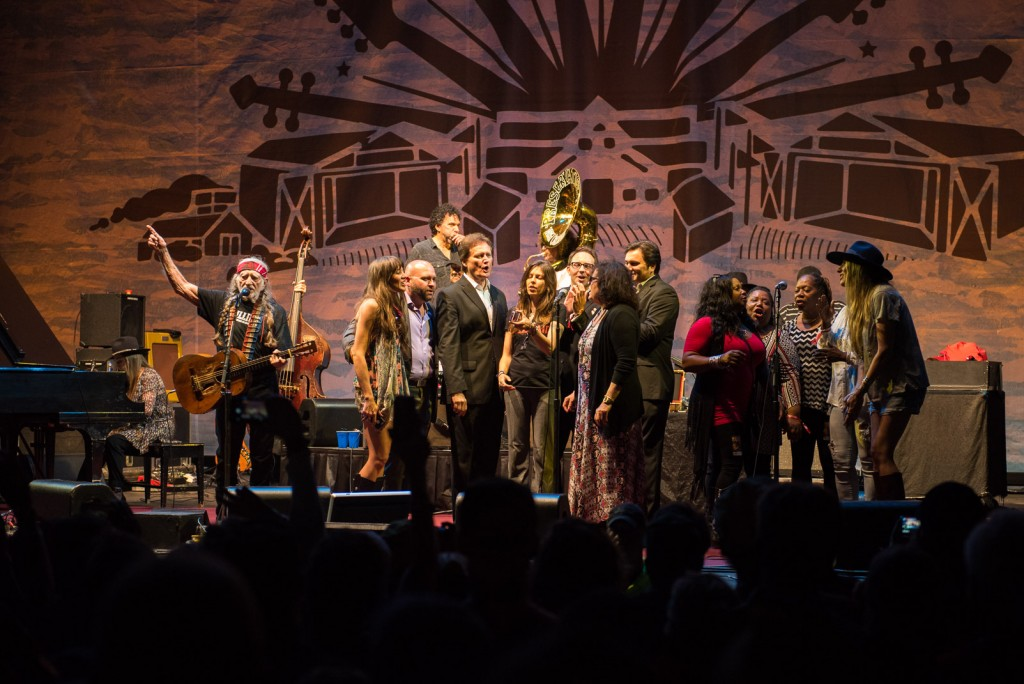 Holly Williams, Preservation Hall Jazz Band and more join Willie Nelson's set for the ultimate Pilgri-Mashup at the inaugural Pilgrimage Music & Cultural festival (photo credit - Terry Wyatt)