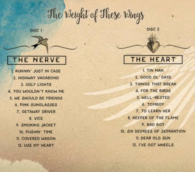 miranda lambert the weight of these wings track listing