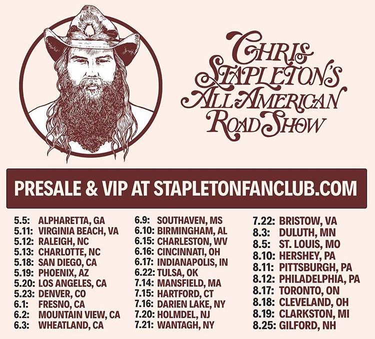 Chris Stapleton Announces New Tour And New Music The